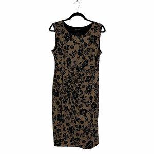 EnFocus Studio Petite Women's Formal Faux Wrap Sleeveless Dress